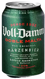Voll Damm doble malta, Lata 33 cl. (24 Unid.) 7,2% vol.